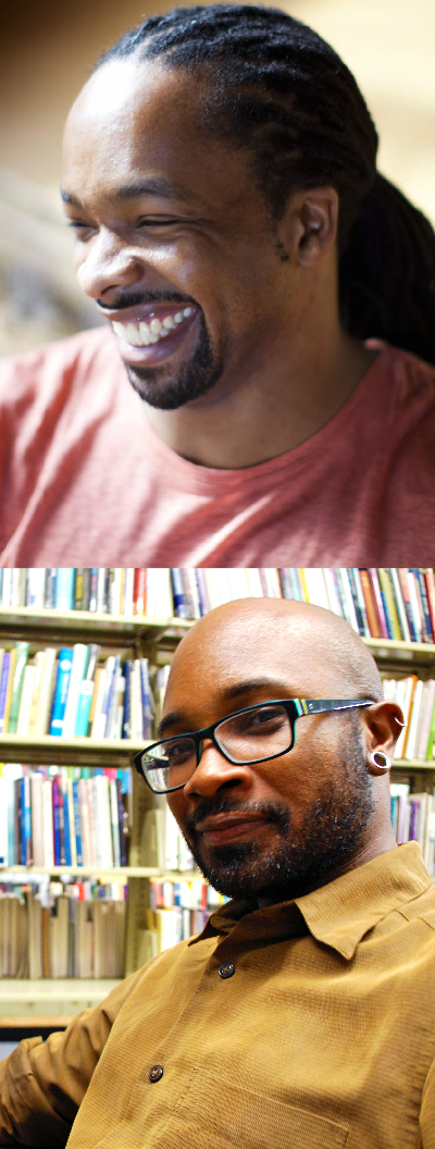 Poets Jericho Brown and Dexter L. Booth