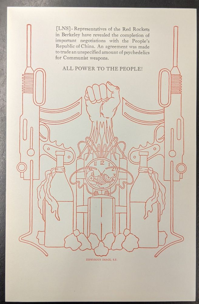 All Power to the People (Broadside). Zephyrus Press.