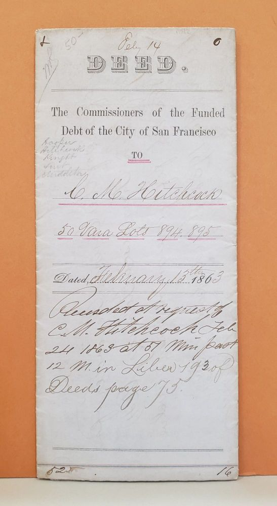 Deed. The Commissioners of the Funded Debt of the City of San Francisco.