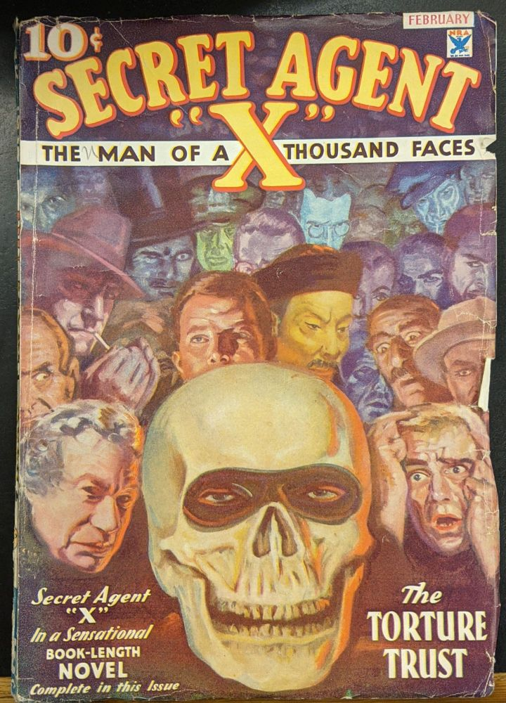 """Secret Agent """"X"""": The Man of a Thousand Faces, February 1934. Rose Wyn."""