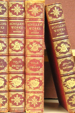 The Works of Schiller (in four volumes; Poems, Dramas, Dramas, Histories. J. G. Fischer, Hjalmar H. Boyesen, biographical introduction.