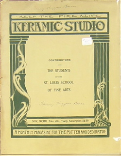 Keramic Studio: A Monthly Magazine for the Potter and Decorator: The Students of the St. Louis School of Fine Arts. Mrs. Adelaide Alsop-Robineau.