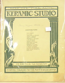 Keramic Studio: A Monthly Magazine for the Potter and Decorator. Mrs. Adelaide Alsop-Robineau.