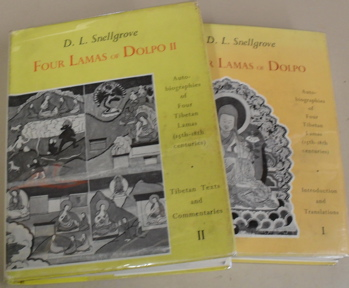 Four Lamas of Dolpo: Tibetan Biographies: volume I, Introduction & Translations; volume II, Tibetan Texts and Translations, complete. David L. Snellgrove.