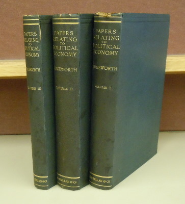 Papers Relating to Political Economy, 3 volumes. F. Y. Edgeworth.