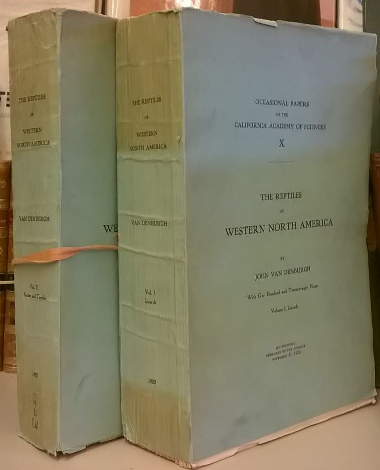 The Reptiles of Western North America (Occasional Papers of the California Academy of Sciences X) 2 volumes. John van Denburgh.