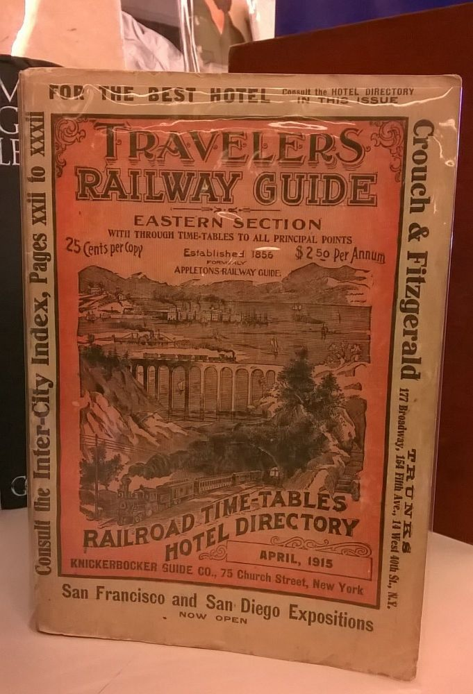 Travelers Railway Guide: Eastern Section (Pocket Edition of the Official Railway Guide). Knickerbocker Guide Company.