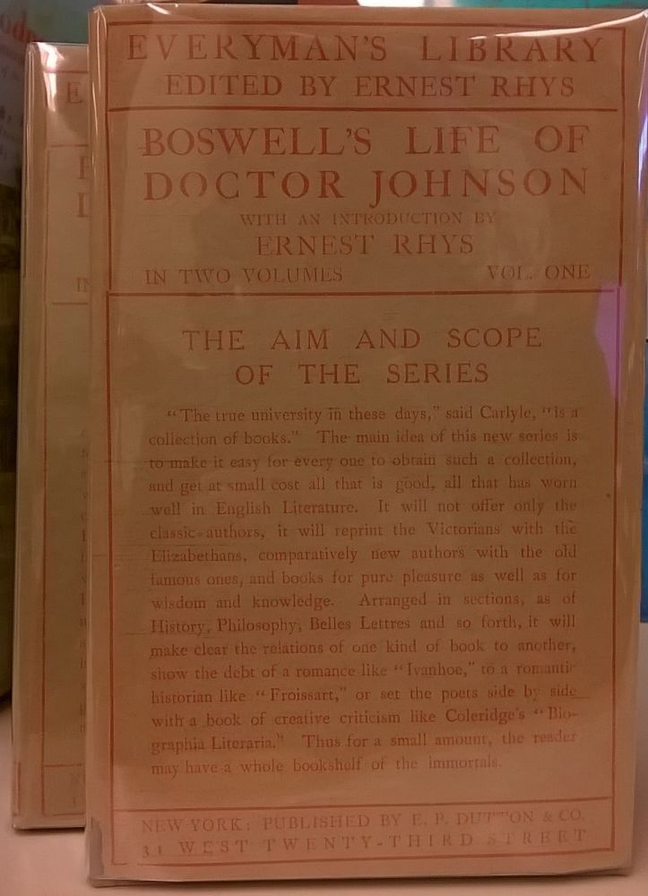 Boswell's Life of Doctor Johnson, 2 vol. James Boswell.