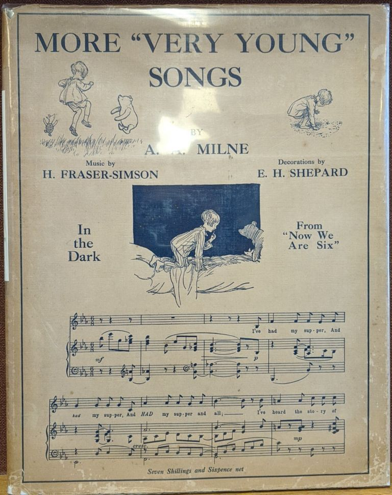 """More """"Very Young"""" Songs. A. A. Milne, H. Fraser-Simson, E. H. Shepard."""