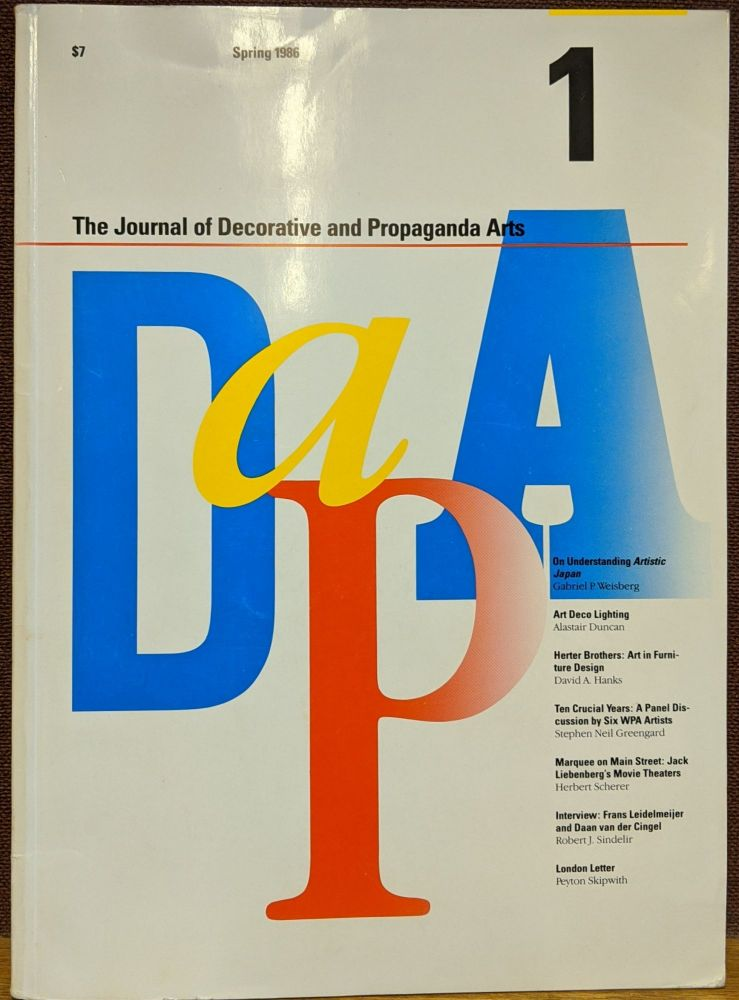 The Journal of Decorative and Propaganda Arts #1, Spring 1986. Pamela Johnson.