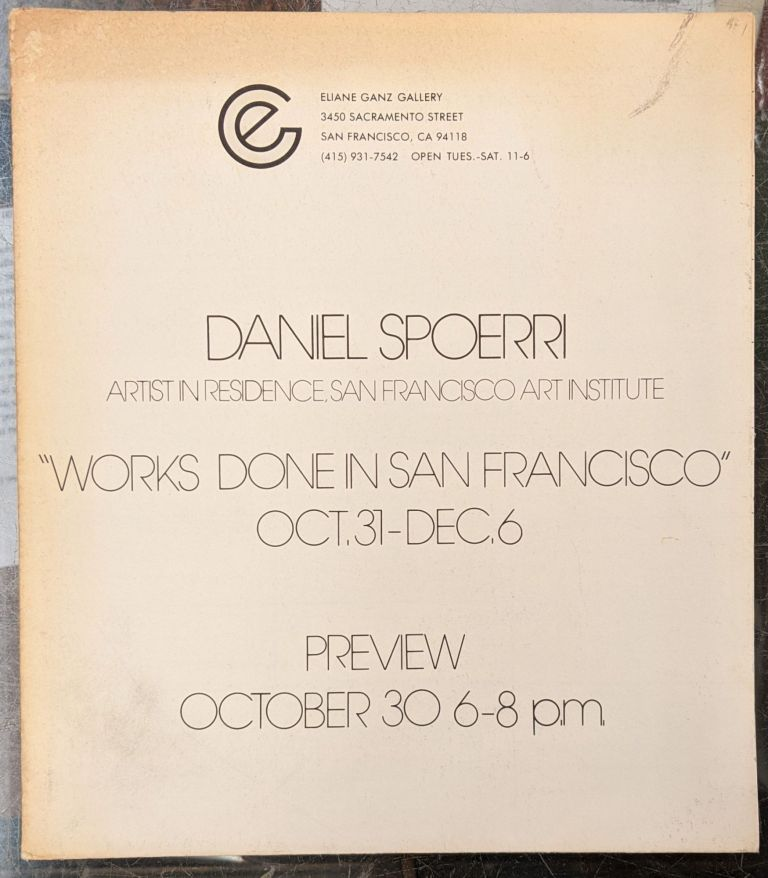 Daniel Spoerri: Works Done in San Francisco