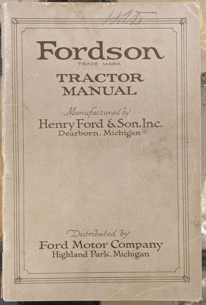 Fordson Tractor Manual. Ford Motor Company.