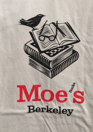 Moe's T shirt variant (natural white). Moe's Books