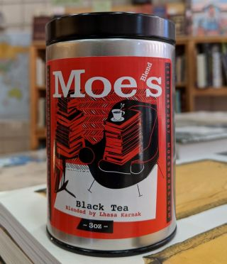 Moe's Breakfast Blend Black Tea (3oz. tin). Moe's Books