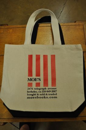 Moe's Canvas Bag (Natural Stripes). Moe's Books