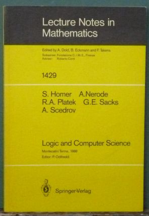 Logic and Computer Science: Lectures Given at the 1st Session of the Centro Internazionale...