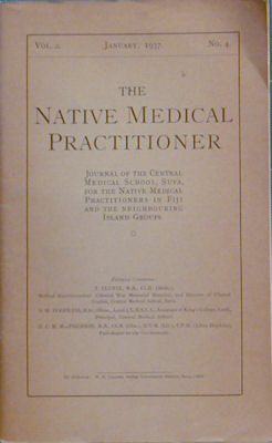 The Native Medical Practitioner. T. Clunie, D. W. Hoodless, D. C. M. MacPherson