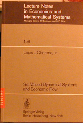 Set Valued Dynamical Systems and Economic Flow. Louis J. Cherene