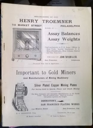 Tables Showing the Value of Silver and Gold per Ounce, Troy, at Different Degrees of Fineness, 8th ed.