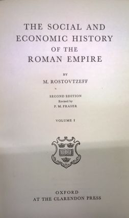 The Social and Economic History of the Roman Empire, 2nd ed.