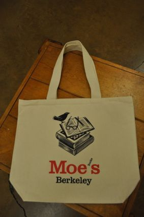 Moe's Canvas Bag (Natural Bird). Moe's Books