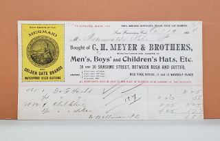 C. H. Meyer & Brothers Receipt. C. H. Meyer, Brothers