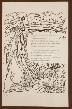 When Did Morning Wind Rip Callow Flowers (Broadside). Jess Ebbe Borregaard