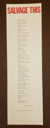 Salvage This (Broadside). Jerry Martien