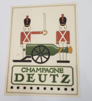 Goines Champagne Deutz Ad Poster. David Lance Goines