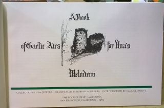 A Book of Gaelic Airs for Una's Melodeon