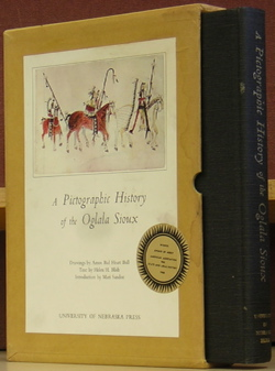 A Pictographic History of the Oglala Sioux. Helen H. Blish, Amos Bad Heart Bull, Mari Sandoz, text