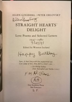 Straight Hearts Delight: Love Poems and Selected Letters