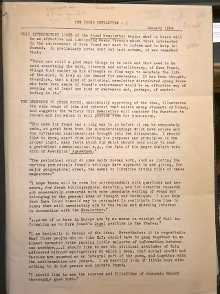The Pound Newsletter, Issues 1-10, January 1954 - April 1956