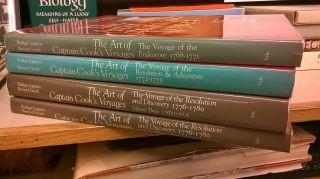 The Art of Captain Cook's Voyages (Complete Four Book Set). Bernard Smith Rudinger Joppien