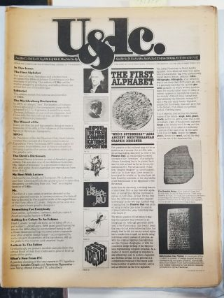 U&lc Magazine (64 Issue Set). Aaron Burns Herb Lubalin, Joyce Rutter Kaye, Margaret Richardson,...