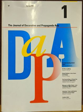 The Journal of Decorative and Propaganda Arts #1, Spring 1986. Pamela Johnson