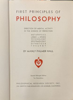 First Principles of Philosophy