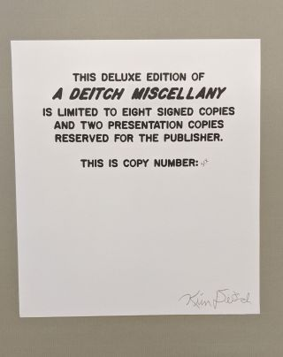 A Deitch Miscellany, Deluxe Edition