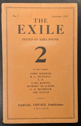 The Exile 2, Autumn 1927. Ezra Pound