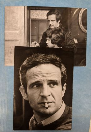 """Signed photograph of Francois Truffaut, with additional shots from """"Don't Shoot the Piano Player,"""" and """"The Wild Child"""""""