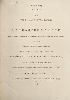 Halls' Chronicle; Containing The History of England