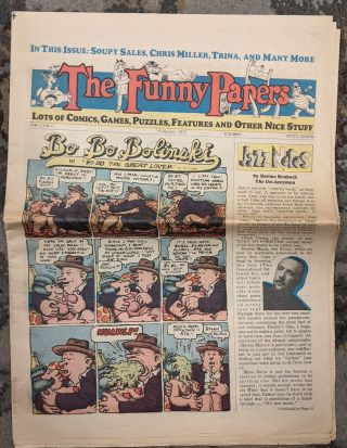 The Funny Papers, February, 1975. Vol. 1, No. 1. Robert Crumb, Trina Robbins, Larry Todd
