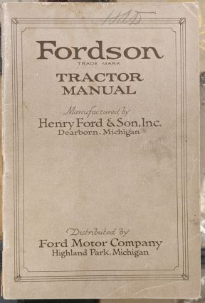 Fordson Tractor Manual. Ford Motor Company