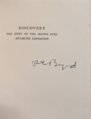 Discovery: The Story of the Second Byrd Antarctic Expedition